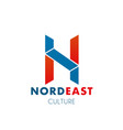 nord east culture letter n icon vector image