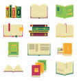 opened and closed different books and magazines or vector image