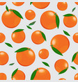 orange fruits seamless pattern on silver gray vector image vector image