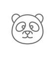 panda chinese traditional animal line icon vector image