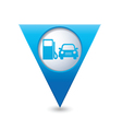 petrol station AND car4 BLUE triangular map vector image vector image