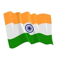 political waving flag of india
