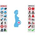 Pregnant Female Icon vector image