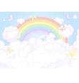 Rainbow sky vector image vector image