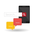 Search design lupe icon marketing concept vector image vector image