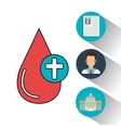 set blood drop services medical isolated vector image vector image
