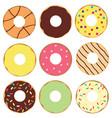 set donuts vector image