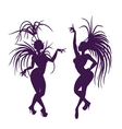 silhouettes of attractive samba queen vector image vector image