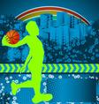 slamball grunge background vector image vector image