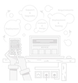 Smart Home and Control Device vector image vector image