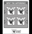 spot the difference black libra vector image vector image