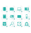stylized business office and mobile phone icons vector image vector image