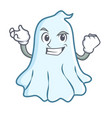successful cute ghost character cartoon vector image vector image