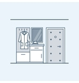 The modern design of the hall Wardrobe with a vector image