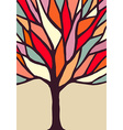 Tree with colorful branches vector image vector image
