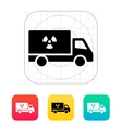 Truck with radiation icon vector image vector image