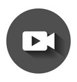 video camera icon in flat style movie play with vector image