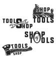 vintage tools shop emblems vector image