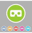 Virtual reality cardboard goggles glasses icon vector image