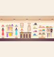 women s clothes store shopping vector image