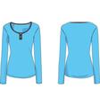 Womens long sleeve henley tshirt 2d flat