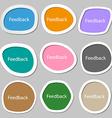 Feedback sign icon Multicolored paper stickers vector image