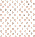 Funny cartoon seamless pattern with different vector image