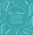 hand drawn ice cream on grunge back - ice cream vector image