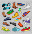 mens fashion shoes and boots set vector image