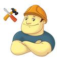 worker with hardhat helmet vector image