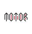 Motor - Original lettering Automotive motorcycle vector image