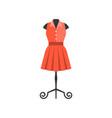 red dress in black mannequin vector image