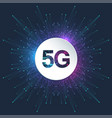 5g logo network wireless systems and internet vector image vector image