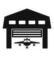 aircraft hangar icon simple style