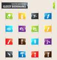 art tools icons set