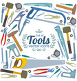background of repair tools icons vector image vector image