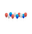 balloons set red blue and white grey colors vector image