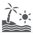 beach glyph icon travel and vacation sea sign vector image vector image