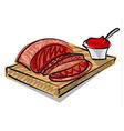 beef on board vector image vector image