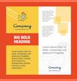 bird company brochure title page design company vector image vector image