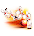 bowling side red vector image vector image
