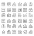 building construction icon set outline style vector image vector image
