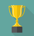 Champion Cup Flat Icon vector image