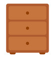 chest drawers wooden commode image vector image vector image