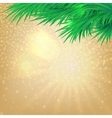 Christmas background with bokeh and the branches vector image vector image