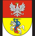 coat of arms of bialystok in podlaskie vector image vector image