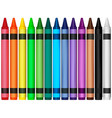 colorful wax crayons vector image vector image