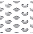 crowns silhouettes seamless pattern vector image