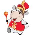 Cute Cow Cartoon Character vector image vector image