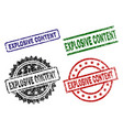 damaged textured explosive content seal stamps vector image
